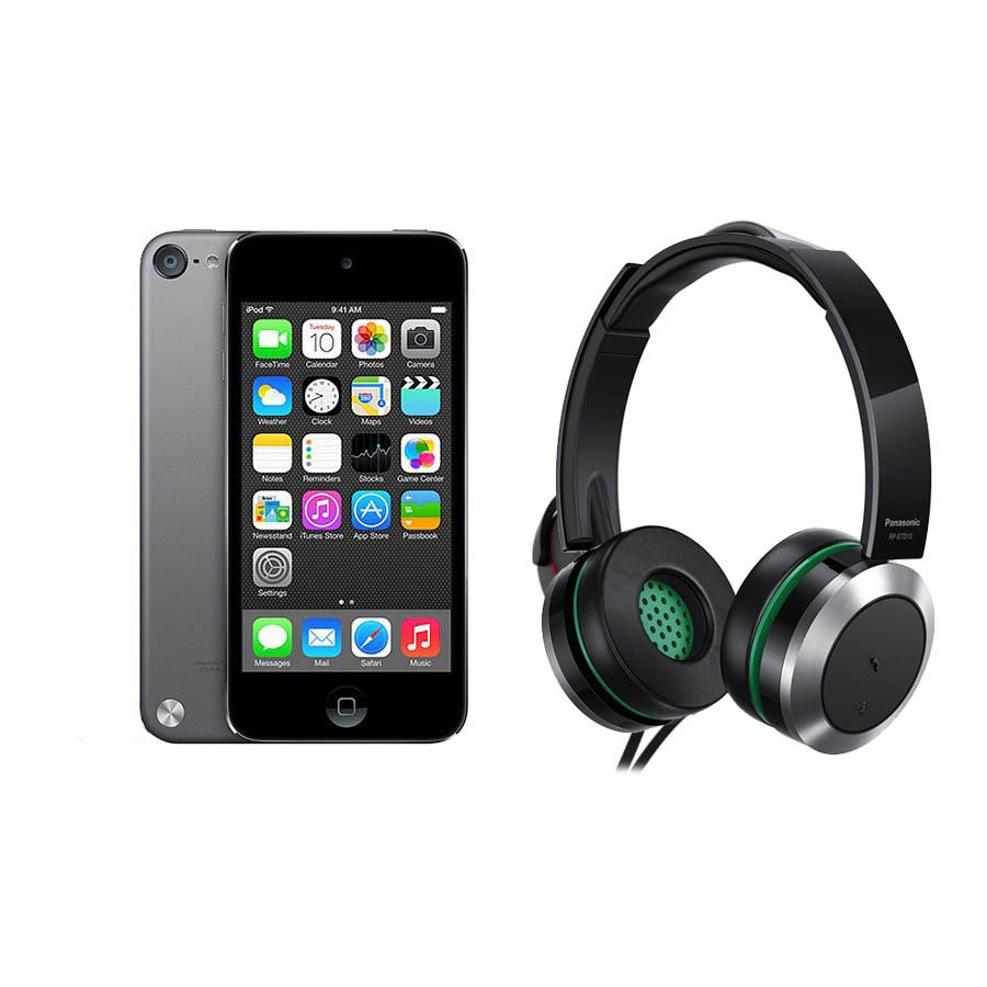 ipod touch 6th generation 64gb with panasonic headphones space grey apple loyalty source. Black Bedroom Furniture Sets. Home Design Ideas