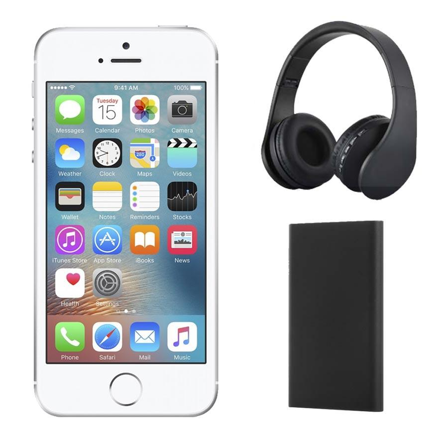 Iphone Se 32gb With Headphones And Power Bank Silver Apple Appmp832vcag 1490989764844