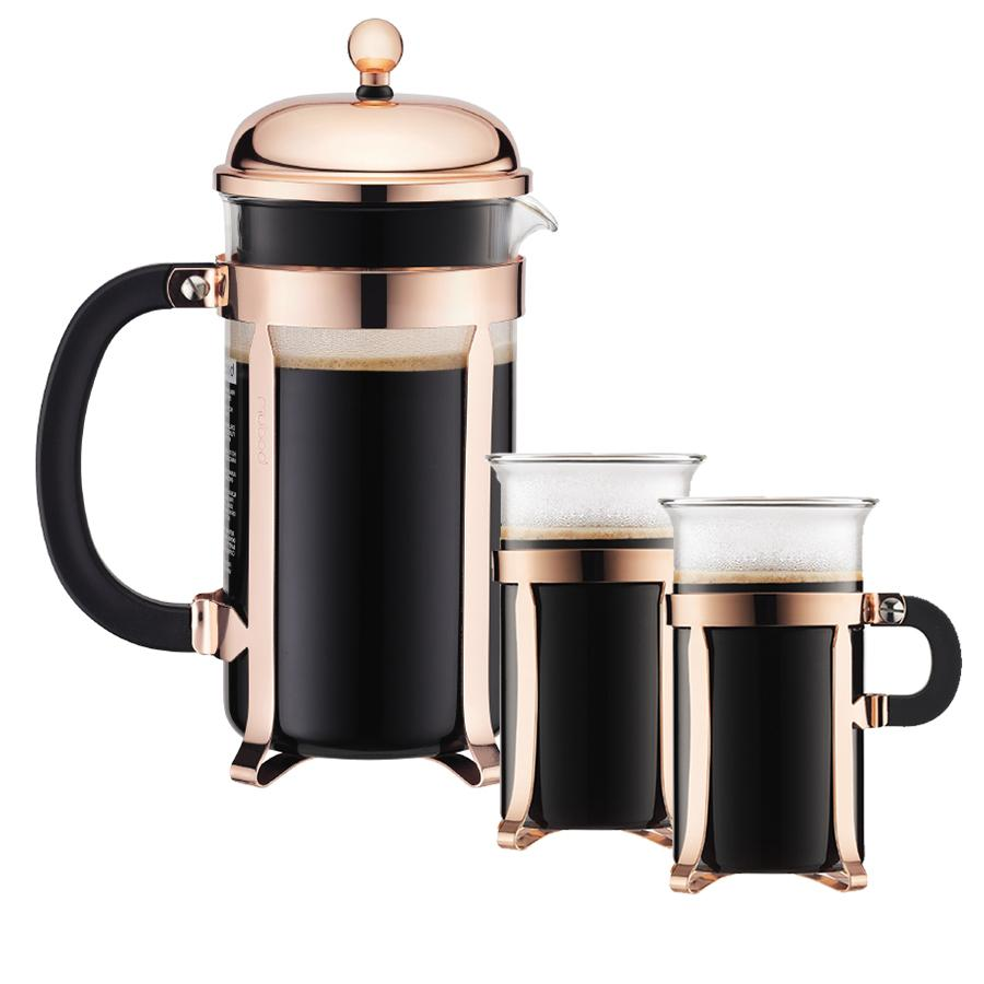 chambord coffee maker with 2 glasses bodum loyalty source. Black Bedroom Furniture Sets. Home Design Ideas