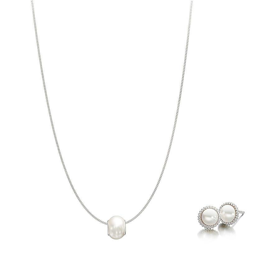 Odyssey Pearl Earrings Necklace Set