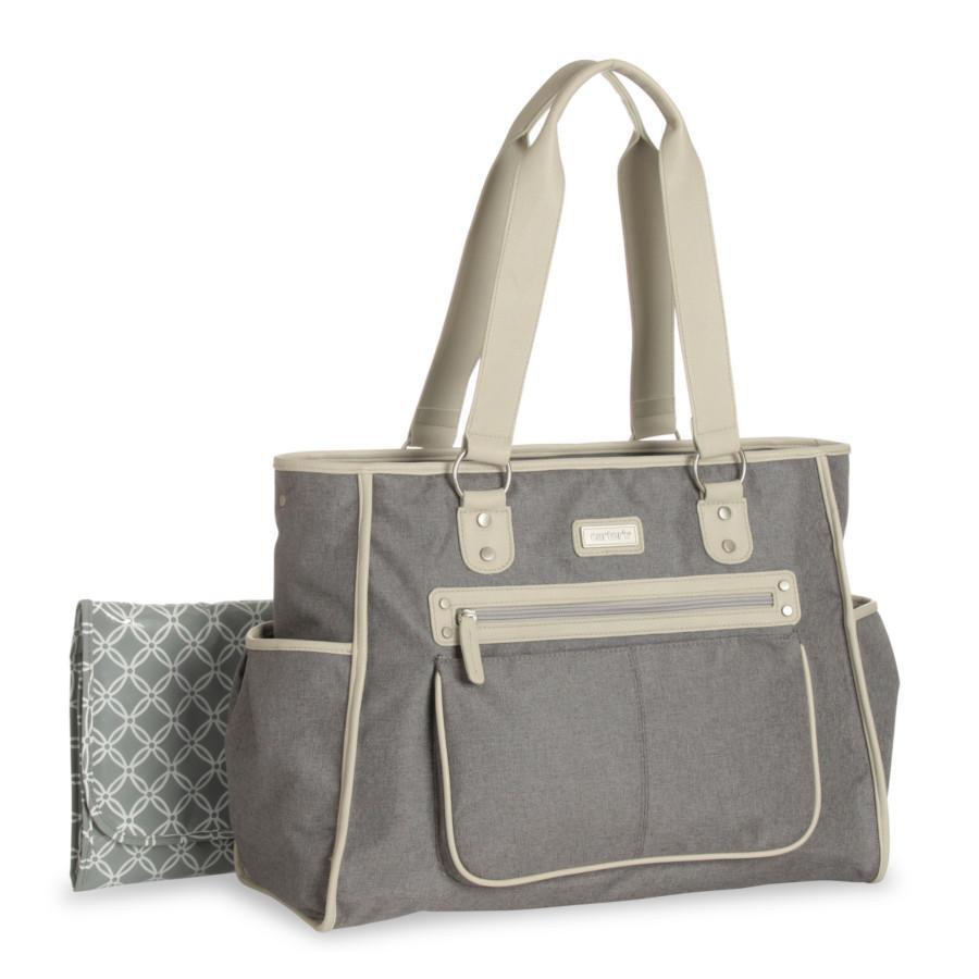 city tote diaper bag grey carter 39 s baby loyalty source. Black Bedroom Furniture Sets. Home Design Ideas