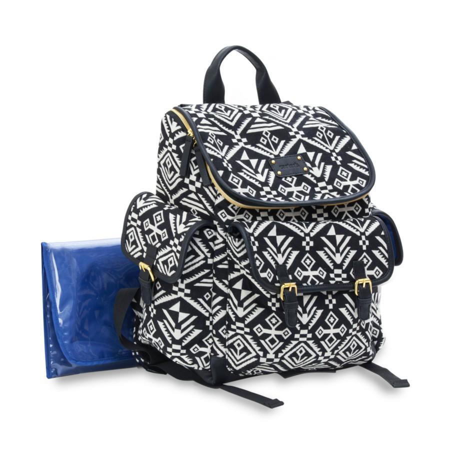 baby aztec jacquard backpack diaper bag black carter 39 s baby loyalty source. Black Bedroom Furniture Sets. Home Design Ideas