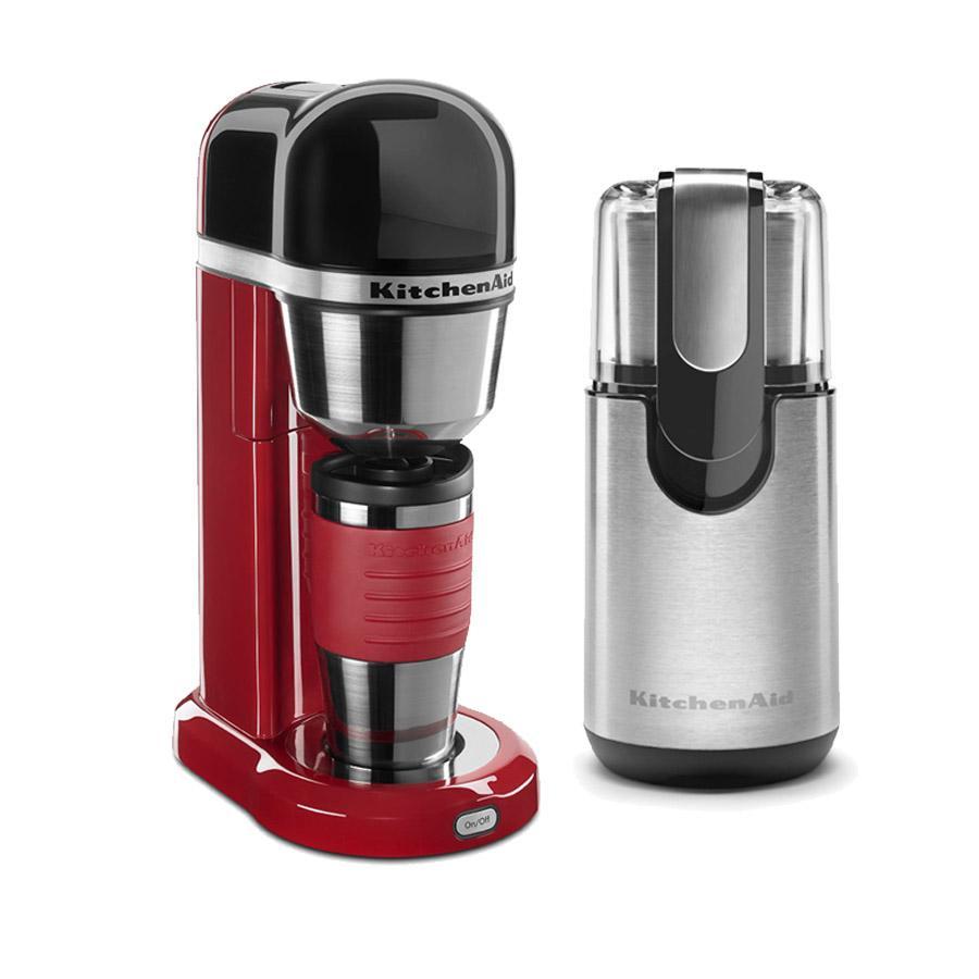 bb58c13b3b7b Personal Coffee Maker w/ Thermal Travel Mug and Coffee Grinder - EMPIRE  RED. kta402rdg_1516039605640.jpg. KitchenAid