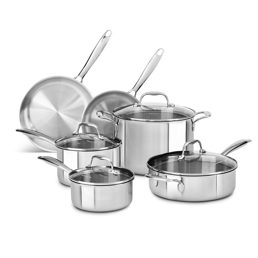 Tri Ply Stainless Steel 10 Piece Set